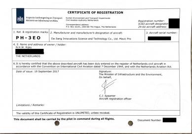 RPAS Operator certificate light