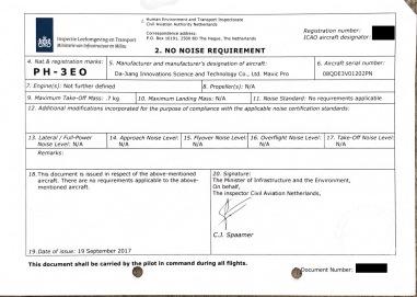 Noise requirements